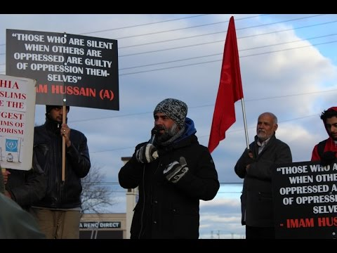 [Moulana Hassan Rizvi] Toronto Protest at Pakistani Consulate against Shia Killings in Pakistan Nov 2016 - English