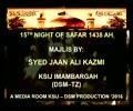 Majlis 15th Night of Safar 1438 Hijari By Allama Syed Jan Ali Shah Kazmi - Urdu
