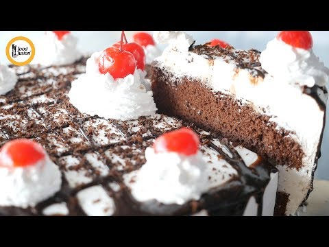 Quick Recipes - Black Forest Cake Recipe - English Urdu