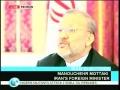 Press Cofernece with Embassadors - Mottaki says West dramatizing riots - English