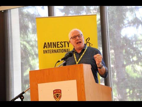 Ottawa Mark 4th year of Saudi war on Yemen Br Alex Neve Amnesty International at Paliament Hill Ottawa Canada - English
