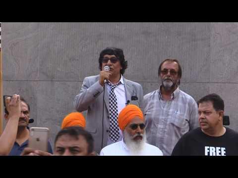 Farooq Papa addressing to Kashmir Solidarity Rally Toronto 18Aug2019 - English