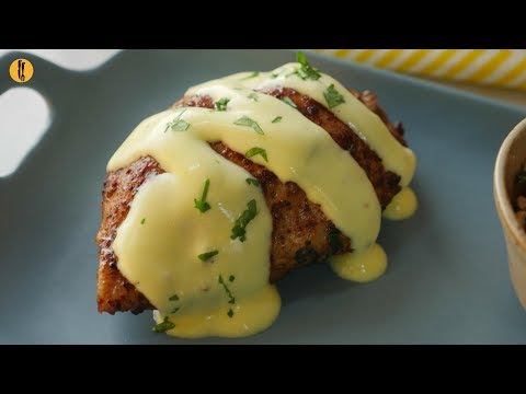 [Quick Recipes] Vegetable Stuffed Chicken with Hollandaise sauce - English Urdu