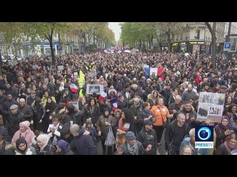 [11/10/19] Thousands march in Paris against Islamophobia - English