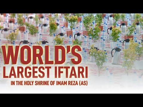 World\'s Largest Iftar In The Holy Shrine of Imam Reza | Largest Ramadan Iftar