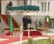 Ahamdinejad receiving Mauritanian President Mohamed Ould Abd Aziz.