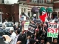 Demonstration in London against attack on Freedom Flotilla - 31May2010 - English