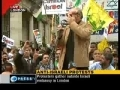 Anti israeli Protest In front of iSrael Embassy - Galloway - London - English