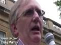 Freedom Flotilla Massacre protest | Craig Murray | London 31 May 2010 - English