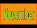 Months of the year song - English