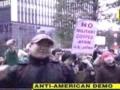 Anti-American Demonstration in Tokyo Japan -English