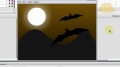 Flash - Holiday Scene Animation Tutorial Flying Bats - English