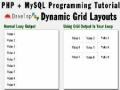 Dynamic Grid Output Programming Tutorial Using PHP MySQL Array Data - English