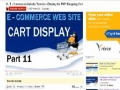 12 E Commerce Website Tutorial Display the PHP Shopping Cart - English