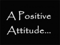 Succeed with positive attitude - English