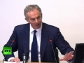 BLAIR is a WAR CRIMINAL! Video of man yelling at Leveson Inquiry - English