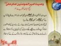 شہادت اور وصیت Shahdat & Waseyat e Ameer ul Momineen Imam Ali (as) - Urdu