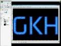 GIMP Tutorial: 3d gloss text - English