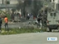 [22 Feb 2013] Palestinians protest to demand release of hunger striking prisoners - English