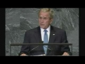 George Bush - Delusional hypocrite at the UN - English