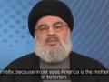 America is the Mother of Terrorism - Sayed Hasan Nasrallah - (English Subtitles)