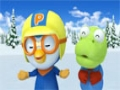 Animated Cartoon - Pororo - I want to be good at ice skating, too - English