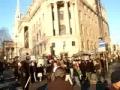 Protest in Trafalgar Square London against Israel Terror - Dec08 - Gaza massacre - English
