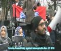 Toronto Protest Rally Against Islamophobia - 21 Nov 2015 - English
