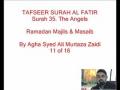 11-Sura Al-Fatir- By Agha Ali Murtaza Zaidi-Urdu