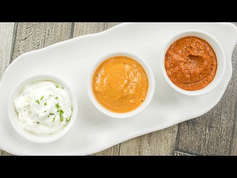 3 Chutney Recipes / Easy Dips & Sauces | Schezwan Sauce, Sesame Chutney and Eggless Milk Mayonnaise English