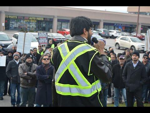 [Br. Adnan Speech] Toronto Protest at Pakistani Consulate against Shia Killings in Pakistan Nov 2016 - Urdu