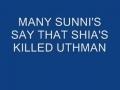 WHO KILLED UTHMAN BIN AFFAN