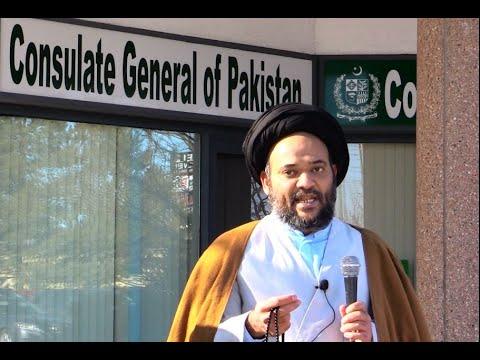 Moulana Hussain Shirazi - Toronto Protest Against MBS visit to Pakistan - 16Feb2019 - URDU