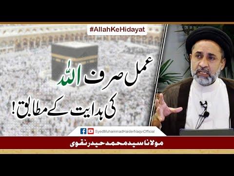 Amal Sirf Allah Ke Hidayat Kay Mutabiq! || Ayaat-un-Bayyinaat || Hafiz Syed Muhammad Haider Naqvi - Urdu