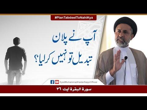 Aap Nay Plan Tabdeel To Nahi Kya? || Ayaat-un-Bayyinaat || Hafiz Syed Muhammad Haider Naqvi - Urdu