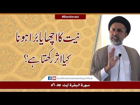 Niyat Ka Acha Ya Bura Hona Kya Asar Rakhta Hay?    Ayaat-un-Bayyinaat    Hafiz Syed Haider Naqvi - Urdu