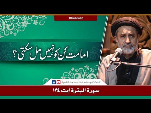 Imamat Kin Ko Nahi Mil Sakti? | Ayaat-un-Bayyinaat | Hafiz Syed Muhammad Haider Naqvi | Urdu