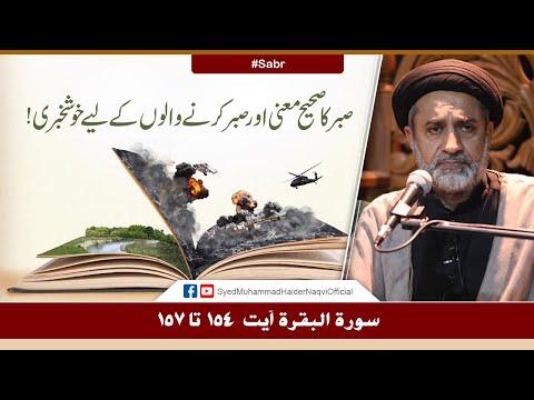 Sabr Ka Sahi Mani Aur Sabr Karny Walon Ky Liye Khushkhabri!   Ayaat-un-Bayyinaat   S. Haider Naqvi   Urdu
