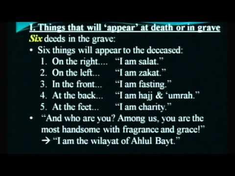 [ Lesson IV] Barzakh: Do Souls Visit Family?; Questioning in the Grave - Maulana Syed Rizvi   English
