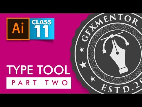 Adobe Illustrator - Type Tool Part 2 - Class 11 - Urdu / Hindi