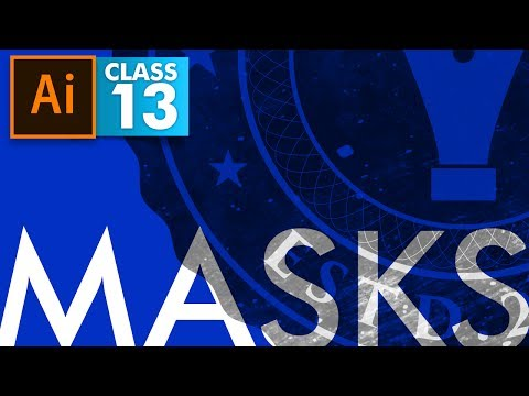 Adobe Illustrator - Types of Masks - Class 13 - Urdu / Hindi