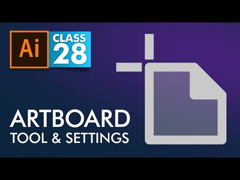 Adobe Illustrator - Artboard Tool and Settings - Class 28 - Urdu / Hindi