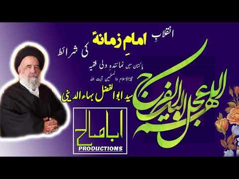 CLIP   شرائطِ انقلاب امام زمانہؑ   Part 2/4 - رہبری   H.I Syed Abul Fazl Bahauddini   Farsi sub Urdu