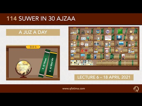 [Introduction To Quran City Of Q Fatima] Juzz 6 Of Holy Quran | English
