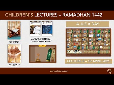 Month Of Ramadhan 1442 Children\'s Lecture PVIII | Quran Recitation & Short Duas | English