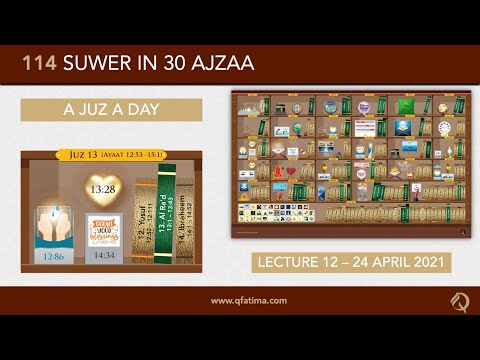 [Introduction To Quran City Of Q Fatima] Juzz 13 Of Holy Quran | English