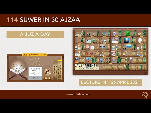 [Introduction To Quran City Of Q Fatima] Juzz 14 Of Holy Quran | English
