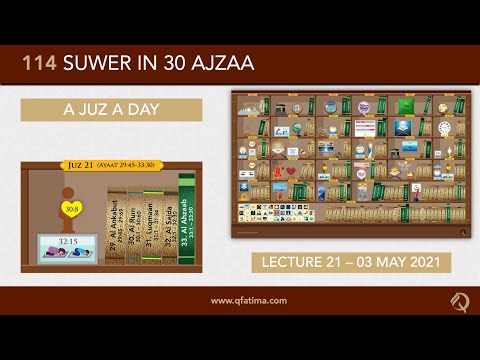 [Introduction To Quran City Of Q Fatima] Juzz 21 Of Holy Quran | English