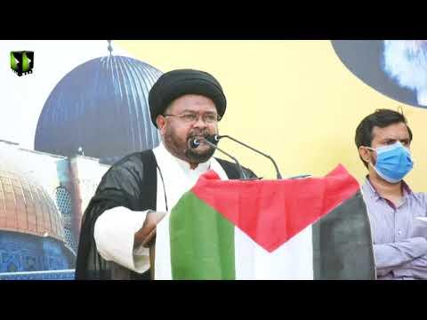 Markazi Youm AL-QUDS Rally 2021 | Speech: Moulana Nazir Taqvi | Karachi | Mah-e-Ramzaan 1442
