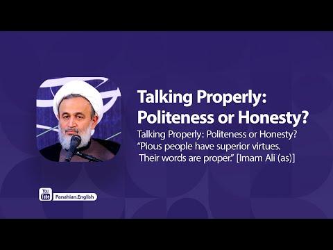 [Clip] Talking Properly: Politeness or Honesty   Agha Ali Reza Panahian Farsi Sub Urdu
